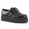 V-CREEPER-538 Black Vegan Leather